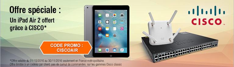 offre cadeau cisco un ipad air 2 32go offert. Black Bedroom Furniture Sets. Home Design Ideas