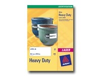Avery Heavy Duty Laser Labels - étiquettes - 20 unités