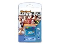 Transcend Ultra Performance - carte mémoire flash - 256 Mo - CompactFlash