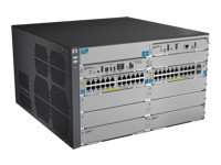 HPE 8206-44G-PoE+/2XG-SFP+ v2 zl Switch - commutateur - 44 ports - Géré - Montable sur rack - avec HP E8200 zl Switch Premium License