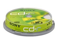 Sony CDQ-80SP - CD-R x 10 - 700 Mo - support de stockage